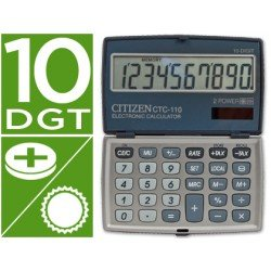 Calculadora Bolsillo Citizen CTC-110WB 10 dígitos