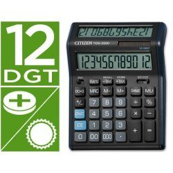 Calculadora sobremesa Citizen TDS-2000 negra 12 digitos