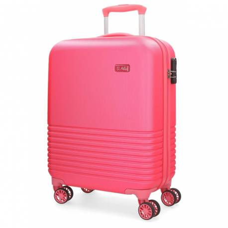 Maleta de cabina 55x36x20 cm Rigida El Potro Ride color Rosa