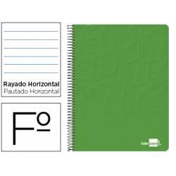 Cuaderno espiral liderpapel write folio tapa blanda 80h 60gr rayado horizontal con margen verde