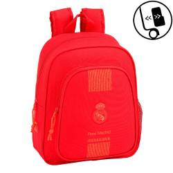 CARTERA ESCOLAR SAFTA REAL MADRID 3 EQUIPACION 18/19 MOCHILA INFANTIL ADAPTABLE A CARRO 270X330X100 MM