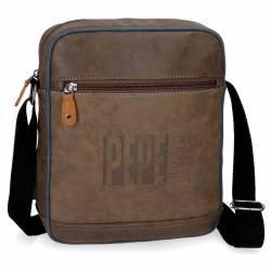 Bandolera Pepe Jeans 27x23x6 cm en Piel Sintetica Max marron Porta tablet