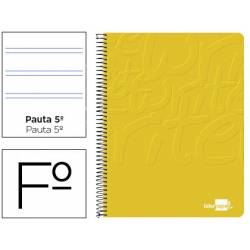 Bloc Liderpapel Folio Write Pauta 2,5 mm Amarillo