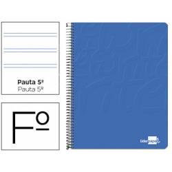 Bloc Liderpapel Folio Write Pauta 2,5 mm Azul