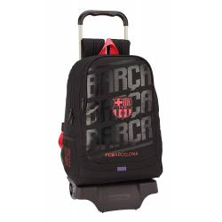 CARTERA ESCOLAR SAFTA CON CARRO F.C. BARCELONA 3 EQUIPACION 18/19 320X440X160 MM