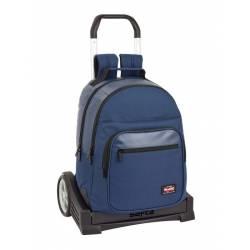 Mochila Escolar Blackfit8 42x32x15 cm en Poliester Azul oscuro Con carro