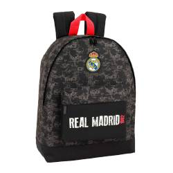 CARTERA ESCOLAR SAFTA REAL MADRID BLACK MOCHILA 325X430X150 MM