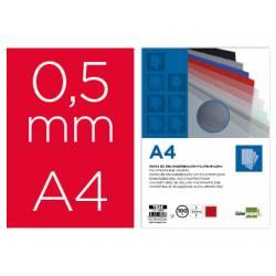 Tapa de Encuadernacion Polipropileno Liderpapel DIN A4 Rojo 0,5 mm