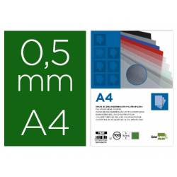 Tapa de Encuadernacion Polipropileno Liderpapel DIN A4 Verde 0,5 mm