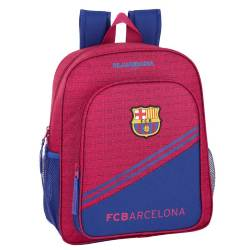 Mochila escolar F.C. Barcelona 38x32x12 cm en Poliester Junior Adaptable a carro