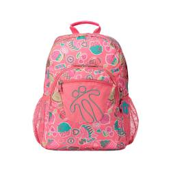 Mochila escolar adaptable a carro estampado sweety - Acuareles Totto 44x33x14.00cm