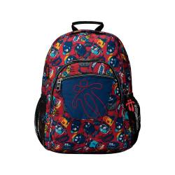 Mochila escolar adaptable a carro estampado growny - Acuareles Totto 44x33x14.00cm
