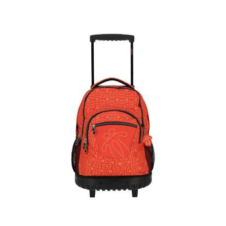 Mochila escolar con ruedas - Renglones Totto 52x37x25.00cm