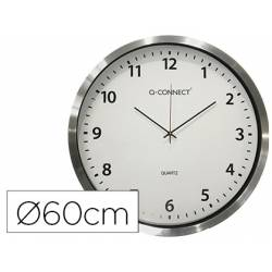Reloj de pared Q-Connect cromado 60 cm