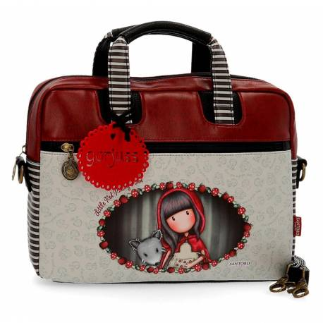 "Maletin para portatil 13,3"" Gorjuss en Piel Sintetica Little Red Riding Hood"