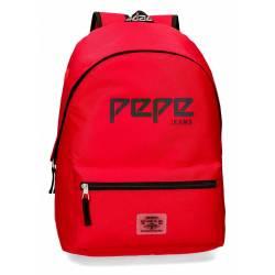 Mochila Escolar Pepe Jeans 42x31x17,5 Cm en poliester Osset Roja adaptable a carro