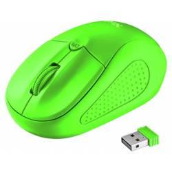 RATON TRUST PRIMO OPTICO 1600 DPI INALAMBRICO MICRO USB 2,4 GHZ COLOR VERDE