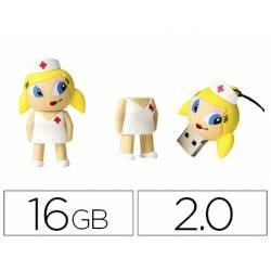MEMORIA USB TECHONETECH FLASH DRIVE 16 GB 2.0 ENFERMERA KITTY