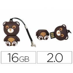 MEMORIA USB TECHONETECH FLASH DRIVE 16 GB 2.0 OSITO TOUS
