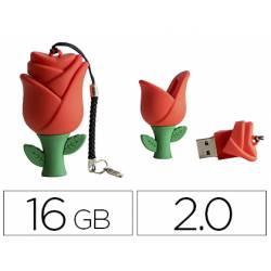 MEMORIA USB TECHONETECH FLASH DRIVE 16 GB 2.0 ROSA ONE