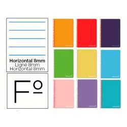 Cuaderno espiral Liderpapel Witty Tamaño Folio Tapa dura Rayado horizontal 75 g/m2 Con margen en Color surtidos