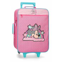 Maleta de cabina Minnie Pink Vibes 50x35x18cm Poliéster