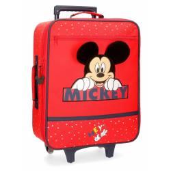 Maleta de cabina Happy Mickey 50x35x18cm Poliéster