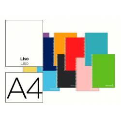 Cuaderno espiral Liderpapel Jolly Tamaño DIN A4 140H Tapa forrada Liso 75 g/m2 con 5 bandas 4 taladros Colores surtidos