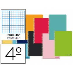 Cuaderno espiral Tamaño Cuarto Tapa blanda Pauta 46º 60 g/m2 en Colores surtidos (no se puede elegir)
