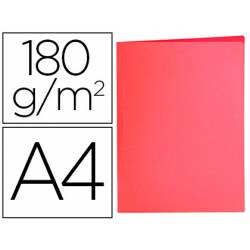 Subcarpeta de cartulina Liderpapel Din A4 color Rojo pastel 180g/m2