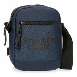 Bandolera Pepe Jeans Bromley Mediana Azul 22x17x6cm Poliéster