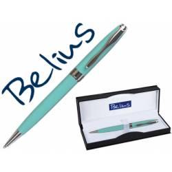 Boligrafo Belius Marsella punta 1 mm Tinta Azul Verde con estuche