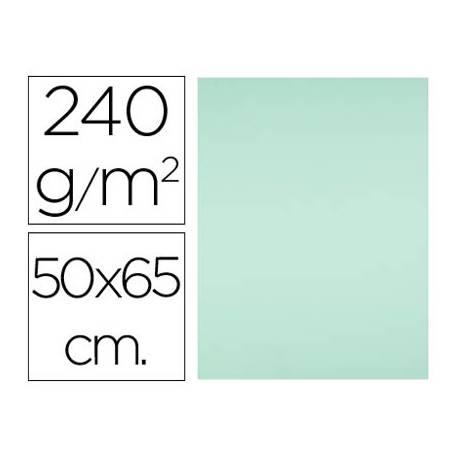 Cartulina Liderpapel verde 240 g/m2.Color muy claro.