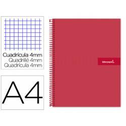 Bloc Liderpapel DIN A4 crafty cuadrícula 4mm color rojo
