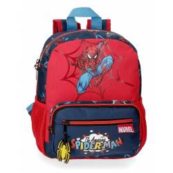 Mochila 28cm adaptable a carro Spiderman Pop (20721D1)