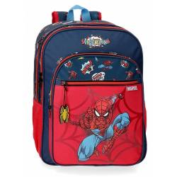 Mochila Spiderman Pop Dos Compartimentos Adaptable (20724D1)