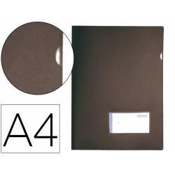 Carpeta dossier uñero Liderpapel DIN A4 polipropileno 180 micras 20 hojas color negro