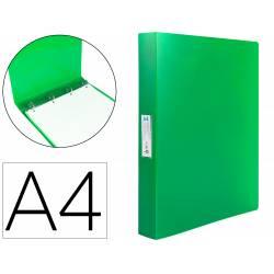 Carpeta Liderpapel 4 anillas polipropileno DIN A4 25mm color verde