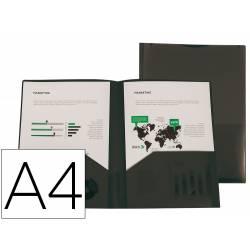 Carpeta clasificadora fuelle Liderpapel DIN A4 poliporpileno 13 departamentos negro