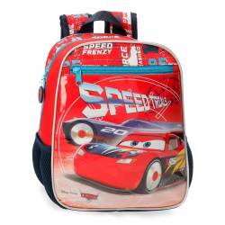 Mochila Infantil Cars Speed Trails 28cm Adaptable (40321D1)