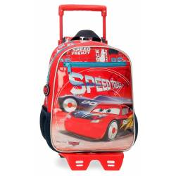 Mochila Infantil Cars Speed Trails 28cm con Carro (40321T1)