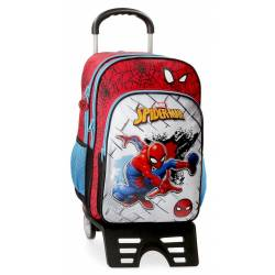 Mochila Escolar Spiderman Red con Carro (40424T1)