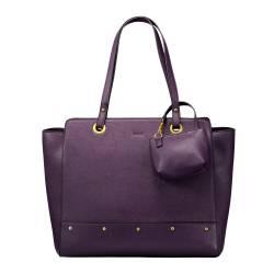 Bolso shopper mujer morado - Nuz Totto 28x 35x 14.5 cm