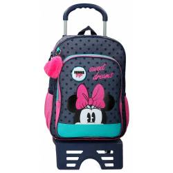 Mochila Sweet Dreams Minnie Escolar 40cm Carro