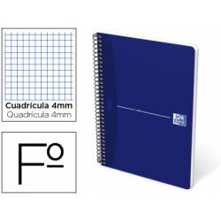 Cuaderno espiral Oxford Essentials Folio Cuadricula 4mm Tapa blanda Color Azul