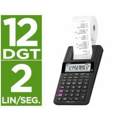Calculadora Impresora Casio HR-8rce con 12 dígitos