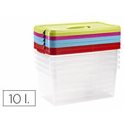 Caja multiusos grande de plastico con asa 385X230X175 mm