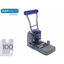 Taladrador Rapesco p1100 negro y morado capacidad 100 hojas