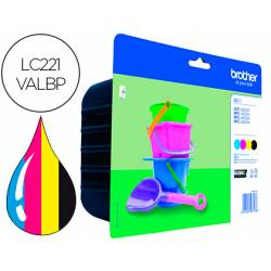 Cartucho Brother Ink-jet LC221 Pack de 4 colores N. LC221VALBP