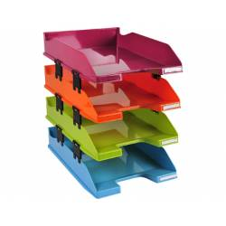 Bandeja sobremesa plastico marca Exacompta con 4 bandejas